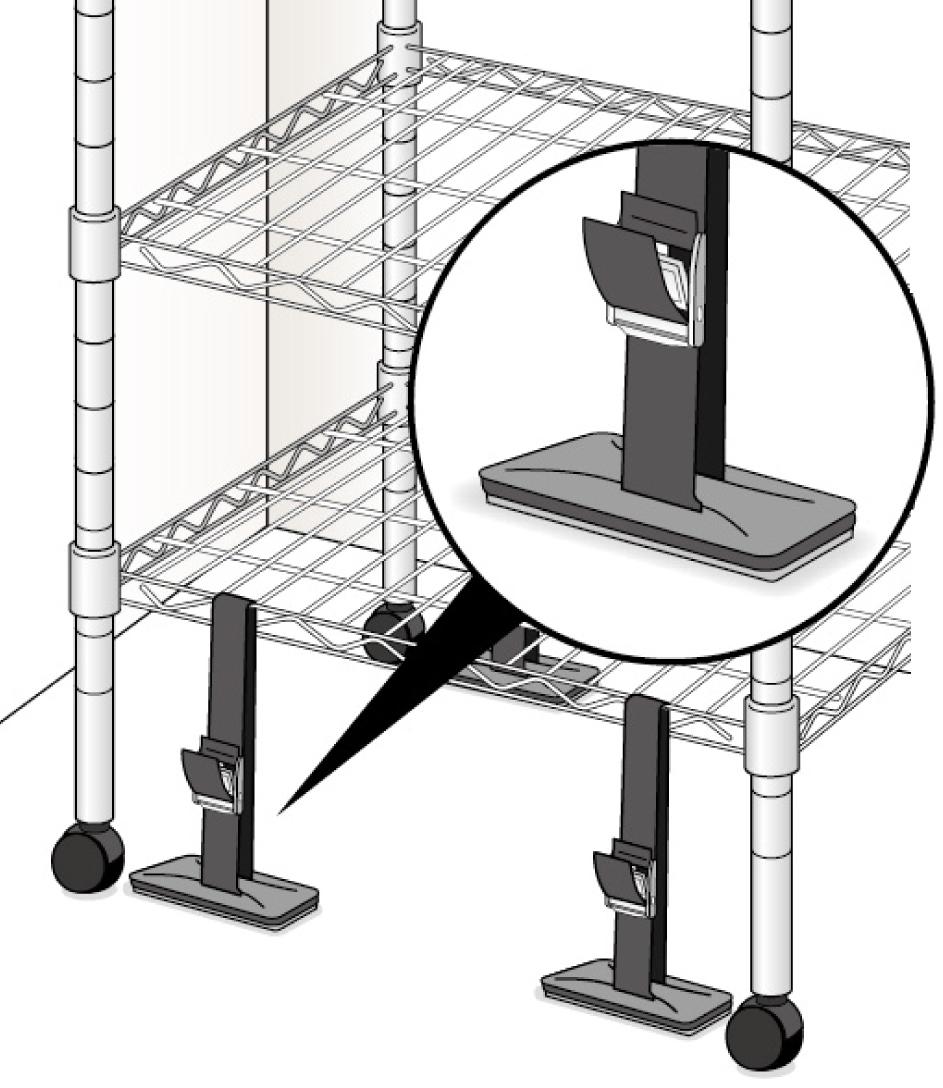 ベルトストッパー シェルフ用 設置事例