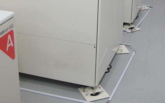 耐震対策導入事例 病院での施工例(透析液供給装置) 株式会社オルテック