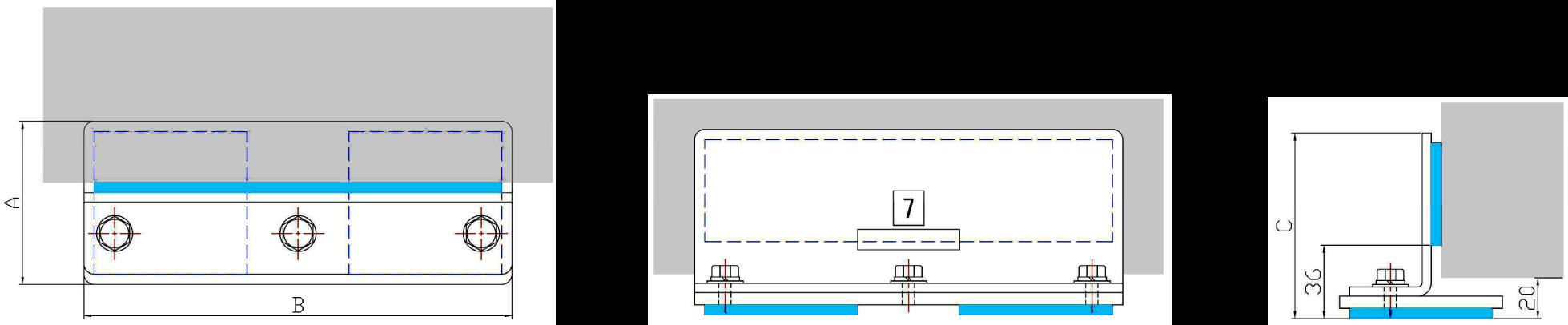 オーブン・棚・ロッカー・キャビネット用耐震器具 設計図