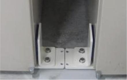 オーブン・棚・ロッカー・キャビネット用耐震器具 使用例