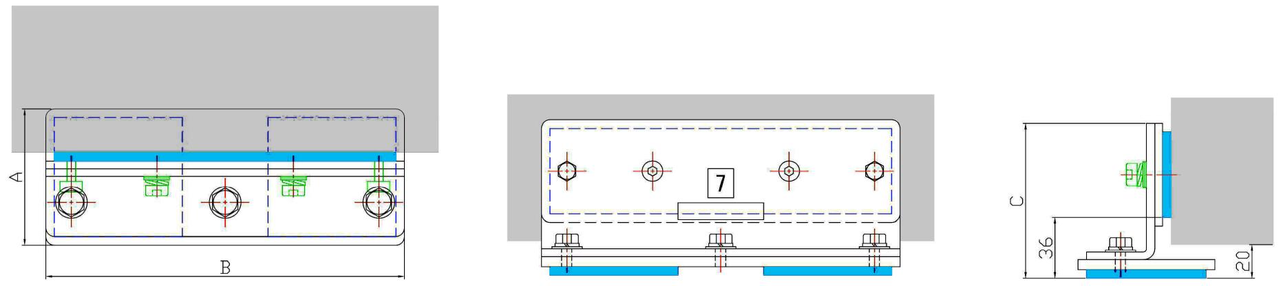 冷蔵庫・恒温槽・書棚・卓上理化学機器用耐震金具 設計図